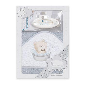 Ručnik s kapuljačom i termometrom za bebe