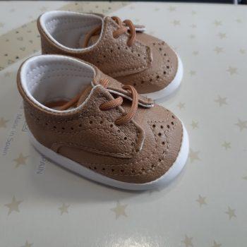 Cipelice za bebe tamno bež