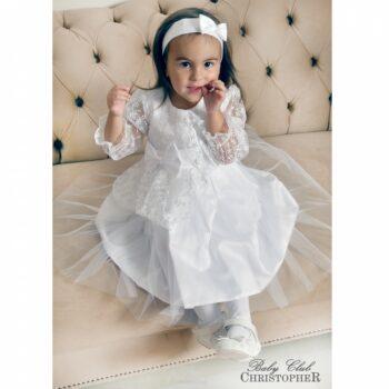 Krsna haljina bijela čipka