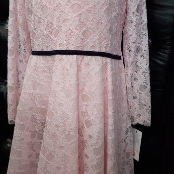 Haljina za djevojčice roza čipka