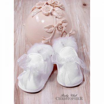 Čizmice za bebe bijele 015