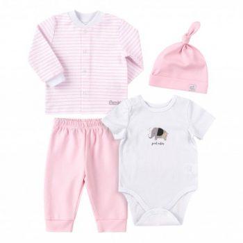 komplet za novorođenu bebu KP251 rozo