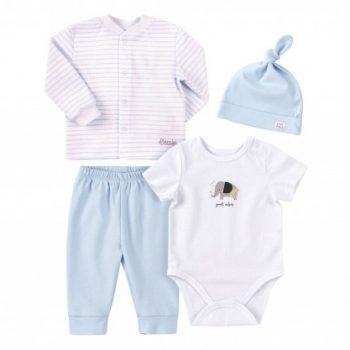 komplet za novorođenu bebu KP251 plavi