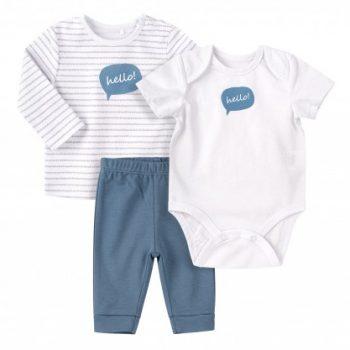 Komplet za novorođenu bebu KP255 plavo
