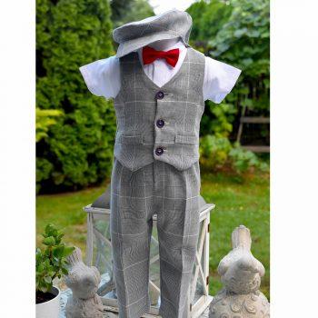 Krsno odijelo s prslukom karirano