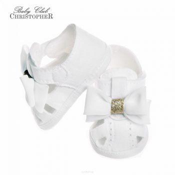 Bijela lanena sandala 6826