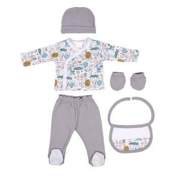 Komplet za novorođenče sivi