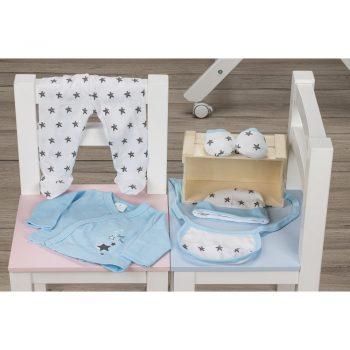 Komplet za novorođenu bebu plavi
