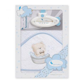 Ručnik za bebe s kapuljačom i termometrom